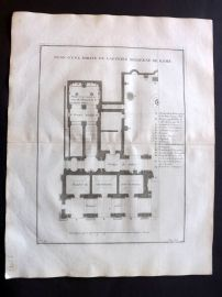 Vignola 1738 Architectural Plan. Capitole Moderne, Rome, Italy 81 Capitoline